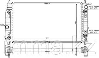 Радиатор CHRYSLER 300M/CONCORDE/LHS/DODGE INTREPID 2.7/3.2/3.5 98-04