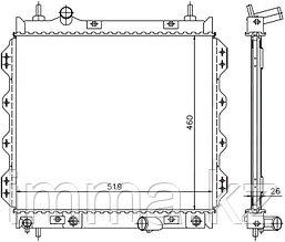 Радиатор CHRYSLER PT CRUISER 1.6/2.0/2.4/2.4T 00-