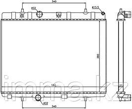 Радиатор PEUGEOT 207 06-/CITROEN DS3 10- 1.6/1.6T/1.6TD // PEUGEOT 208 1.0/1.2T/1.4/1.6/1.6T  20
