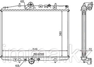 Радиатор CITROEN C5 2.2TD 00-04// PEUGEOT 607 2.2TD(AT) 00-