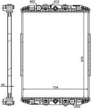 Радиатор DAF F95 TRUCK 87-97