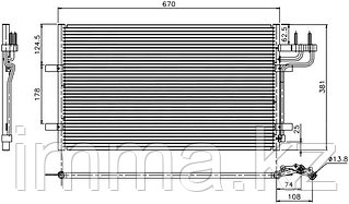 Радиатор кондиционера FORD FOCUS II/C-MAX 05-