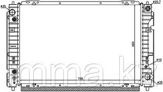 Радиатор Мазда TRIBUTE/FORD ESCAPE/MAVERICK 2.0/2.3 01-08