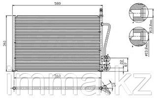 Радиатор кондиционера FORD FUSION/FIESTA 1.2/1.4/1.6 01-08/Мазда 2 1.3/1.4/1.6 02
