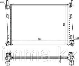 Радиатор FORD FUSION/FIESTA 1.25/1.4/1.6 01-08/Мазда 2 1.3/1.4/1.6 02- MT