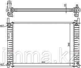 Радиатор FORD FUSION/FIESTA 1.3/1.4/1.4TD  2001-2008  //  Мазда 2 1.4D  2002-