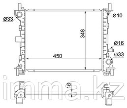 Радиатор FORD FOCUS 1.4/1.6 98-04