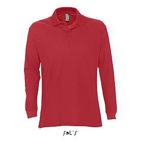 Рубашка поло мужская | с длинным рукавом | Sols Star XL | Красный