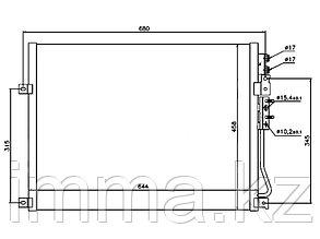 Радиатор кондиционера JEEP GRAND CHEROKEE/COMMANDER 05-10
