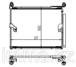 Радиатор кондиционера Тойота LAND CRUISER PRADO 150/4RUNNER ##N28# 09-