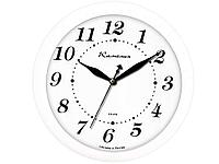 "Часы настенные Камелия ""Классика в белом"", круглые, 29х29х3,5, белая рамка"