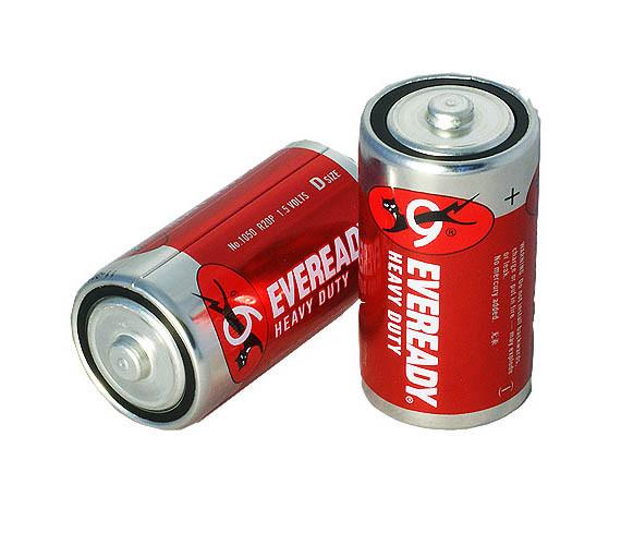 Солевая батарейка Eveready R20 2 shrink