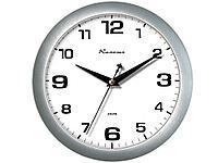 """Часы настенные Камелия """"Серебро"""", круглые, 29х29х3,5, серебристая рамка"""