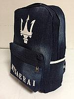 Джинсовый рюкзак для девушек. Высота 42 см, длина 29 см, ширина 14 см., фото 1