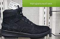 Ботинки зимние CAT черные арт. 2642 BMCa нубук / натуральный мех размеры 40-45
