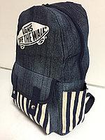 Джинсовый рюкзак для девушек.Высота 42 см, длина 27 см, ширина 15 см., фото 1
