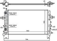 Радиатор OPEL ASTRA H 1.6/1.8 2004-2010 // OPEL ZAFIRA B 1.6/1.8 2005-