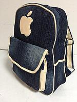 Джинсовый рюкзак для девушек. Высота 39 см,длина 30 см, ширина 17 см., фото 1