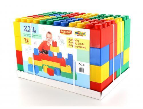 41999 Конструктор строительный Полесье XXL 72 элемента