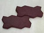 Резиновая брусчатка для детских площадок, 43шт, (45мм)