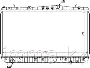 Радиатор дэу NUBIRA/Шевроле LACETTI/SUZUKI FORENZA 1.4/1.6/1.8 03-(трубчатый) SG-DW0004-MT