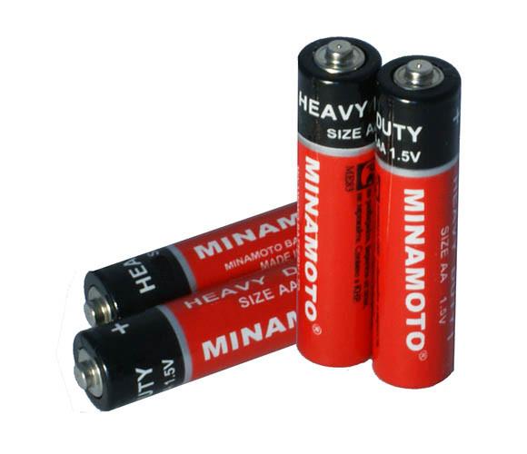 Солевая батарейка Minomoto R6 4 sprink
