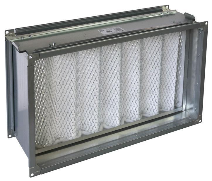 Канальный фильтр для прямоугольных воздуховодов ФЯГ 50-30