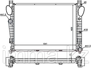 Радиатор мерседес S-CLASS W220 2.8/3.2/3.2D/3.5/4.0D/4.3/5.0/5.5/6.0/6.5 99-06/CL/SL-CLASS W215/W230