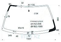 Стекло лобовое в клей Ауди 100 83-90 4/5D