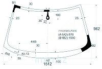 Стекло лобовое в клей AU A3/S3 03- 3/5D