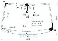 Стекло лобовое в клей Ауди A7 SPORTBACK 10-