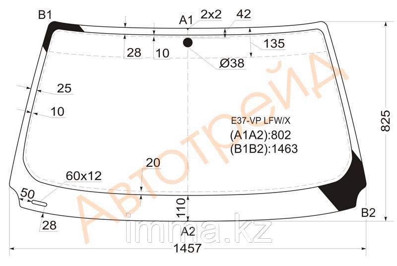 Стекло лобовое в клей БМВ 3-SERIES E36 91-99 2D CPE/CBR