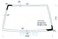 Стекло лобовое в клей SUZUKI ESCUDO/VITARA 89-/SIDEKICK JEEP V\Шевроле TRACKER 4D UTILITY 89-97