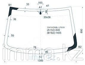 Стекло лобовое в клей FIAT PUNTO 93-99 3/5D