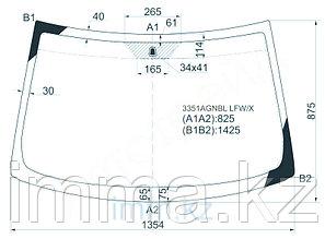 Стекло лобовое в клей FIAT PUNTO 99-05 3/5D