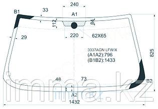 Стекло лобовое в клей FIAT TEMPRA/TIPO 88-98 3/4/5D HBK/WGN