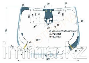 Стекло лобовое с полным обогревом  в клей FORD ESCAPE/KUGA 4D UTILITY 2012-