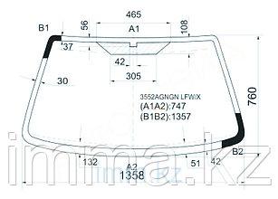 Стекло лобовое в клей Мазда 121 FORD FIESTA 3D/5D HB 1996-