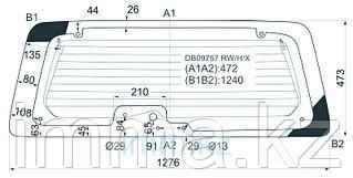 Стекло заднее (крышка багажника) с обогревом FORD ESCAPE/MAVERICK  2001-#рс# (8 отв)