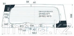 Стекло заднее (крышка багажника) с обогревом FORD EXCURSION 4D UTILITY 2003-2005