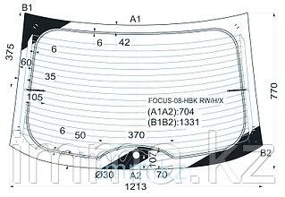Стекло заднее (крышка багажника) с обогревом FORD FOCUS 3/5D HBK 08-