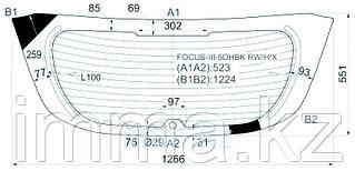 Стекло заднее (крышка багажника) с обогревом FORD FOCUS III 11- 5D HBK
