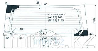 Стекло заднее (крышка багажника) с обогревом FORD FUSION VAN 2002-