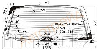 Стекло заднее (крышка багажника) с обогревом Фольксваген GALAXY/SHARAN/ALHAMB 5D WAGON 2000-