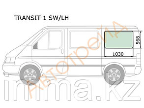 Стекло кузова (собачник) заднее левое FORD TRANSIT VAN 85-