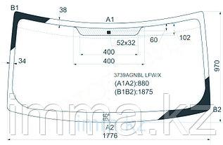 Стекло лобовое в клей FORD TRANSIT VAN 2000-