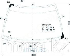 Стекло лобовое в клей HONDA ACCORD 89-93 4/5D