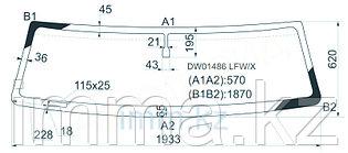 Стекло лобовое в клей HUMMER H2 4D UTILITY 2003-