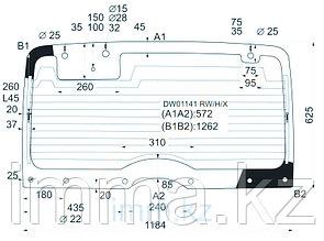 Стекло заднее (крышка багажника) с обогревом JEEP YJ WRANGLER 2D UTILITY 92-95
