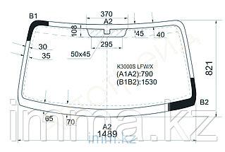 Стекло лобовое в клей KIA BONGO III  K2500TCI/K2700/K3000STRUCK 2004- груз.